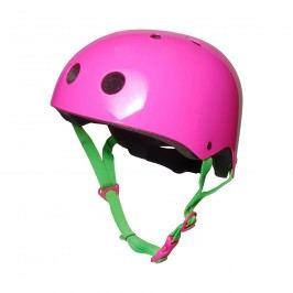 Kiddimoto Cyklistická helma Neon - růžová, velikost M
