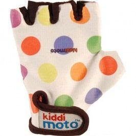 Kiddimoto Cyklistické rukavice Dotty - barevná, velikost S