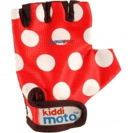 Kiddimoto Cyklistické rukavice Dotty - červené , velikost M