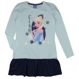 E plus M Dívčí šaty Frozen - bílo-modré