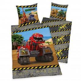 Herding Dětské oboustranné povlečení Dinotrux, 140x200 cm/70x90 cm