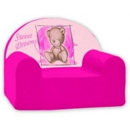 Baby Nellys Dětské křesílko Sweet Dreams by Teddy - růžové