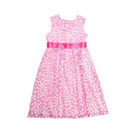Topo Dívčí puntíkované šaty - růžovo-bílé