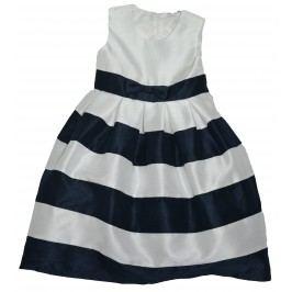 Topo Dívčí společenské šaty - bílo-černé