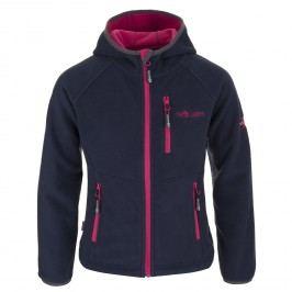 Trollkids Dívčí fleecová bunda Borgund - modro-růžová