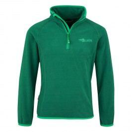 Trollkids Dětská fleecová bunda Nordland- tmavě zelená