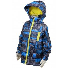 Bugga Chlapecká nepromokavá bunda s podšívkou - modro-šedá