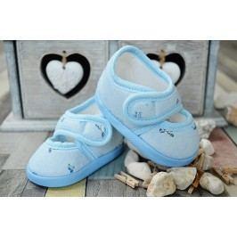 Lola Baby Dívčí capáčky s potiskem - světle modré