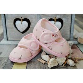 Lola Baby Dívčí capáčky s potiskem - světle růžové