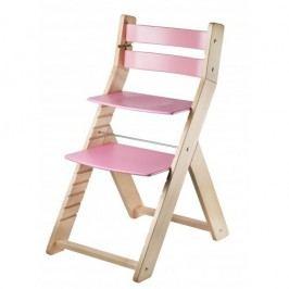 WOOD PARTNER Rostoucí židle MONY natur lak - růžová