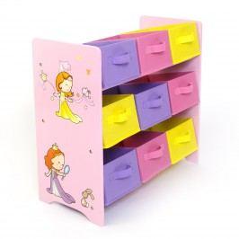 Homestyle4U Organizér na hračky Princezny