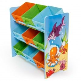 Homestyle4U Dětský organizér na hračky Oceán