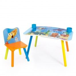 Homestyle4U Dětský stolek se židličkou Oceán