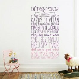 Housedecor Samolepka na zeď - Pravidla dětského pokojíčku