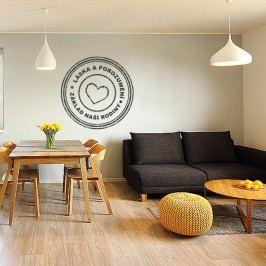 Housedecor Samolepka na zeď - Láska a porozumění – naše rodina
