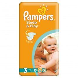 Pampers Sleep&Play 3 Midi, 58 ks (4-9 kg) - jednorázové pleny