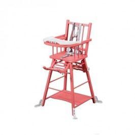 Combelle Rozkládací jídelní židlička, růžová