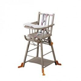 Combelle Rozkládací jídelní židlička, šedá