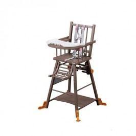 Combelle Rozkládací jídelní židlička, hnědá