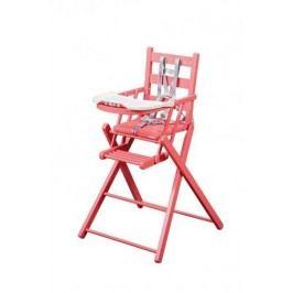 Combelle Skládací jídelní židlička, růžová