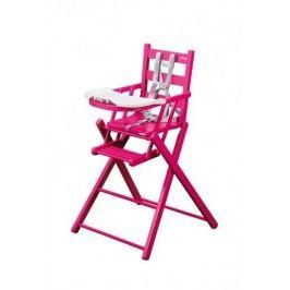 Combelle Skládací jídelní židlička, vínová