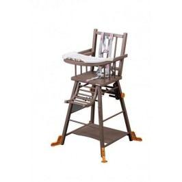 Combelle Skládací jídelní židlička, hnědá