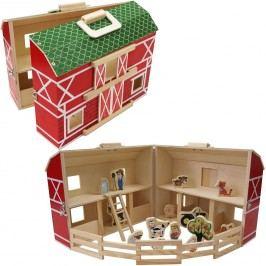 Teddies Domeček farma rozkládací - dřevo - 17ks