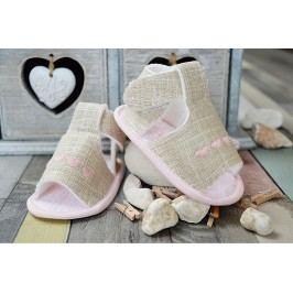 Lola Baby Dívčí sandálky se srdíčky - béžové