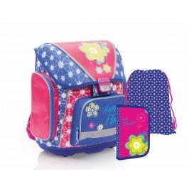 Karton P+P Školní set - modrý - Premium květiny