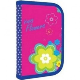 Karton P+P Penál 1 patrový s chlopní - Premium květiny