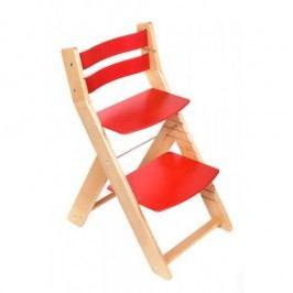 WOOD PARTNER Rostoucí židle MONY natur lak - červená