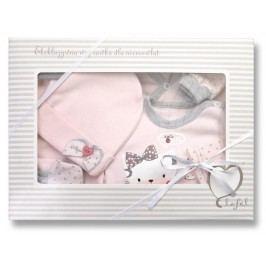 Lafel Dívčí kojenecký set Cat - růžový
