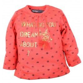 Dirkje Dívčí tričko Dreams - oranžové