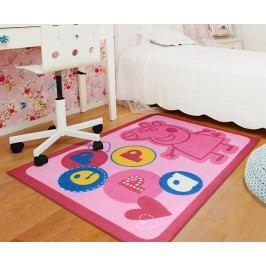 Carpet your life Dětský koberec Peppa Pig písmena 95x133 cm