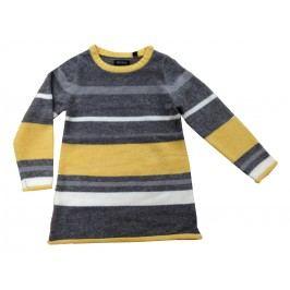 Blue Seven Dívčí pruhované šaty - šedo-žluté