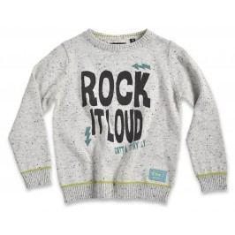 Blue Seven Chlapecký svetr Rock it loud - světle šedý