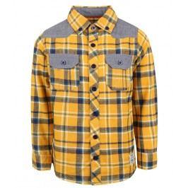 Blue Seven Chlapecká károvaná košile - žlutá
