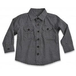 Blue Seven Chlapecká vzorovaná košile  černo-bílá