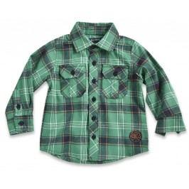 Blue Seven Chlapecká kostkovaná košile - zelená
