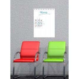 Ambiance Dětská bílá nástěnná tabule Flip Chart, 55x40 cm