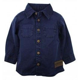 Dirkje Chlapecká bavlněná košile - tmavě modrá