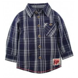Dirkje Chlapecká károvaná košile - tmavě modrá