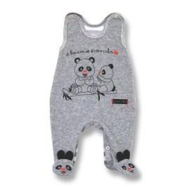 Lafel Dětské dupačky Panda - šedé
