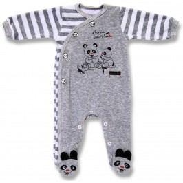 Lafel Dětský zavinovací overal Panda - šedý