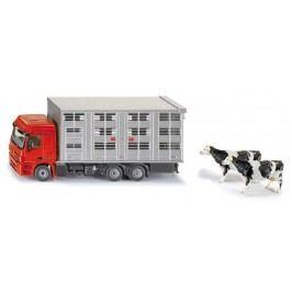 SIKU Super - Transportér pro přepravu hospodářských zvířat + 2 krávy, 1:50