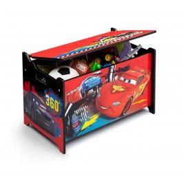 Delta Dětská truhla na hračky Cars 2 - barevná