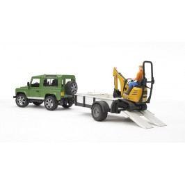 Bruder Land Rover s pásovým nakladačem JCB a postavičkou