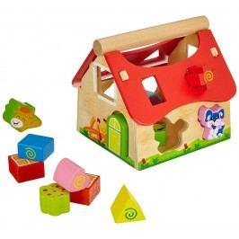 Simba Dřevěný veselý domeček - vkládačka (15ks)