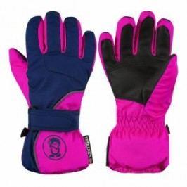 Trollkids Dívčí lyžařské rukavice Troll - růžovo-modré