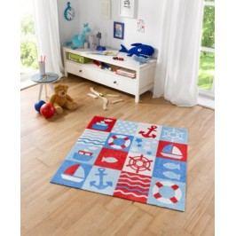 Hanse Home Dětský koberec Nautic, 100x100 cm - červeno-modrý
